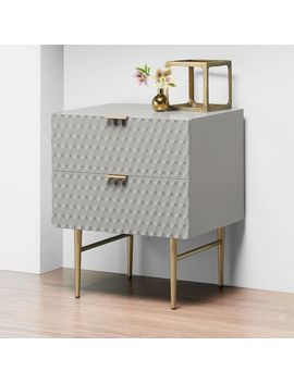 Audrey Nightstand   Mist Gray by West Elm