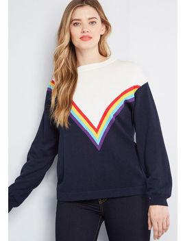 Brilliance, Check Rainbow Sweater by Sugarhill Brighton