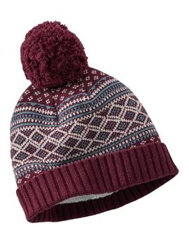 Women's Heritage Wool Nordic Pom Hat, Print by L.L.Bean