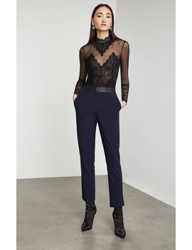 Pleather Trimmed Ankle Pant by Bcbgmaxazria