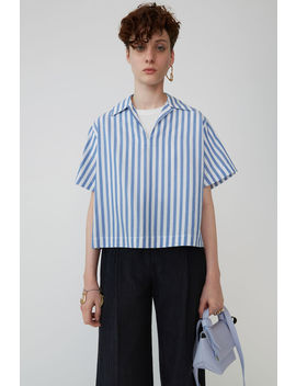 Boxy Striped Shirt Blue/White by Acne Studios