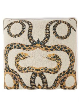 serpents-intarsia-cashmere-pillow by saved-ny