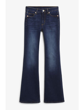 mocki-blue-flare-jeans by monki