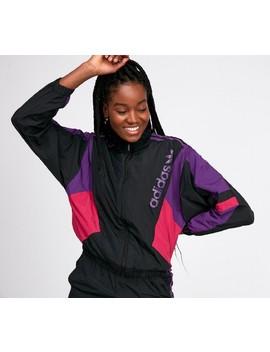 womens-track-top- -black-_-purple-_-pink by adidas-originals