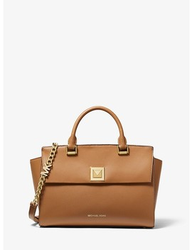 Sylvia Medium Crossgrain Leather Satchel by Michael Michael Kors