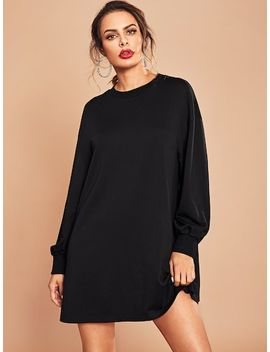 Tunic Solid Dress by Shein