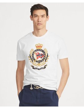 Classic Fit Cotton Graphic Tee by Ralph Lauren