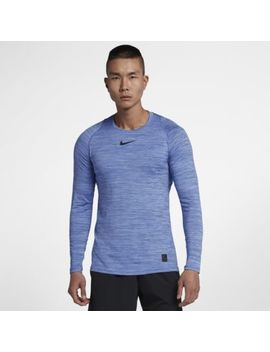Nike Pro Fitted Men's Long Sleeve Training Top. Nike.Com by Nike