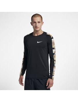 Nike Pro Men's Long Sleeve Camo Top. Nike.Com by Nike