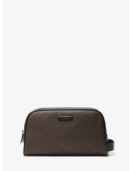 Jet Set Logo Double Zip Travel Case by Michael Kors Mens