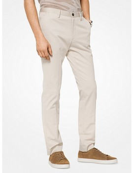 Slim Fit Cotton Twill Chinos by Michael Kors Mens