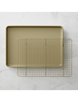 Williams Sonoma Goldtouch® Nonstick Half Sheet Pan With Baking Rack by Williams   Sonoma