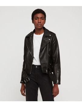 Estae Hearts Leather Biker Jacket by Allsaints