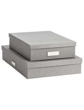Bigso Grey Stockholm Office Storage Boxes by Container Store