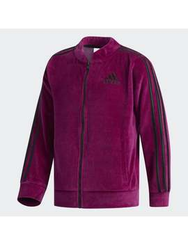 Pink Velour Bomber Jkt by Adidas