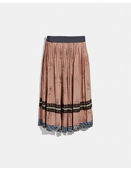 Tulip Print Pleated Skirt by Coach
