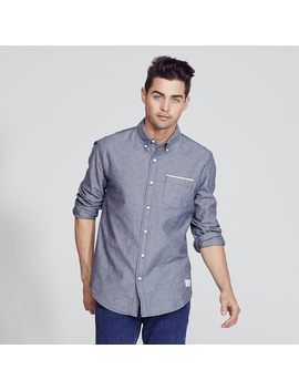 Adam Levine Men's Long Sleeve Chambray Shirt by Adam Levine