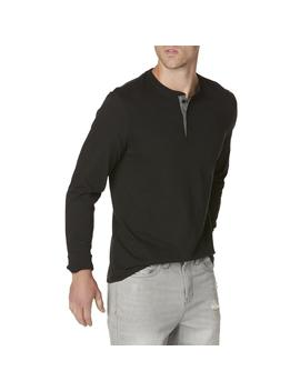 Structure Men's Slim Fit Henley Shirt   Marled by Structure