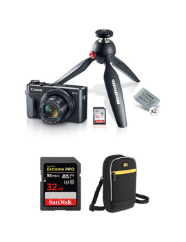 Power Shot G7 X Mark Ii Digital Camera Video Creator Kit With Free Accessories by Canon