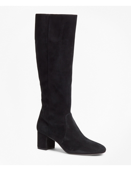 Suede Knee High Boots by Brooks Brothers