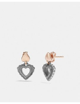 Scallop Heart Drop Earrings by Coach