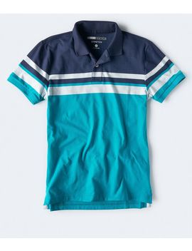 Chest Stripe Stretch Jersey Polo by Aeropostale