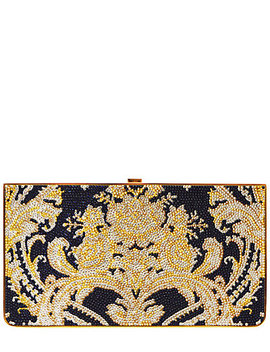 Judith Leiber Damask Curved Base Rectangle Clutch by Judith Leiber