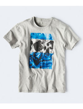 Free State Two Tone Skull Graphic Tee by Aeropostale