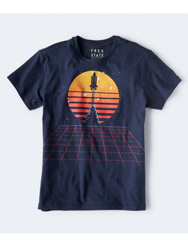 Free State Spaceship Launch Graphic Tee by Aeropostale