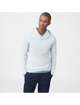 Cashmere Ribbed Hoodie by Club Monaco
