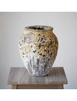 Barnacle Round Shoulder Vase by Terrain