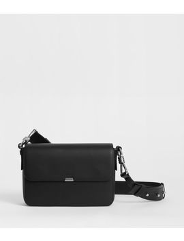 Captain Leather Flap Crossbody Bag by Allsaints