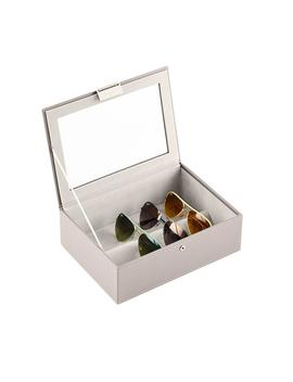 Stackers Taupe Classic Lidded Eyewear Storage Box by Container Store
