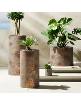 Girona Patina Planters by Crate&Barrel