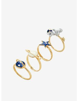 Astronaut Space Ring Set by Hot Topic