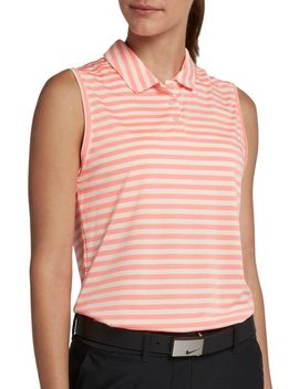 Nike Women's Victory Striped Sleeveless Golf Polo by Nike