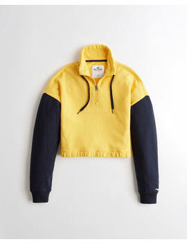 Crop Half Zip Sweatshirt by Hollister
