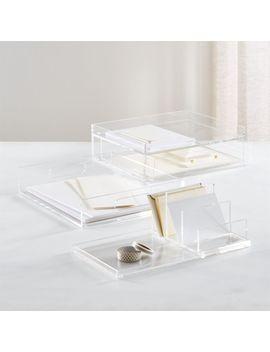 Russell + Hazel Medium Acrylic Desk Organizer by Crate&Barrel