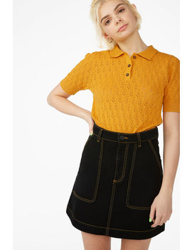 Workwear Mini Skirt by Monki