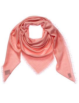 Gucci Gg Jacquard Silk & Wool Blend Shawl by Gucci