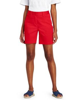"Women's Petite Mid Rise 7"" Chino Shorts by Lands' End"
