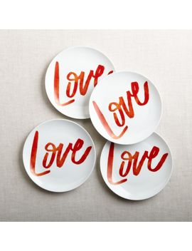 Valentine's Plates, Set Of 4 by Crate&Barrel