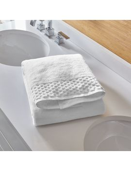 Zero Twist Quick Dry White Bath Sheet by Crate&Barrel