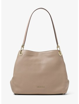 Raven Large Pebbled Leather Shoulder Bag by Michael Michael Kors