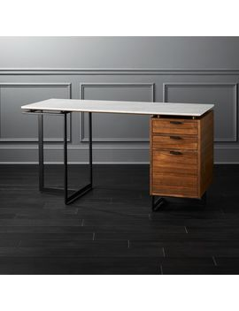 Fullerton Modular Desk With Drawer And Leg by Crate&Barrel