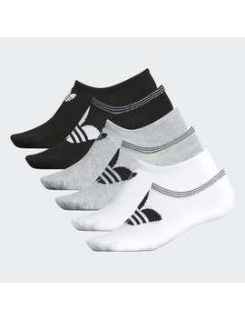 Trefoil No Show Socks 6 Pairs by Adidas