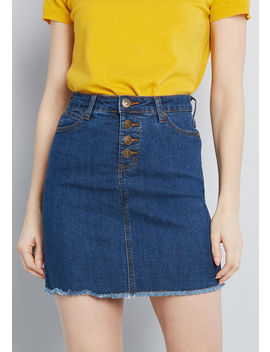Karaoke Seamstress Denim Skirt by Modcloth