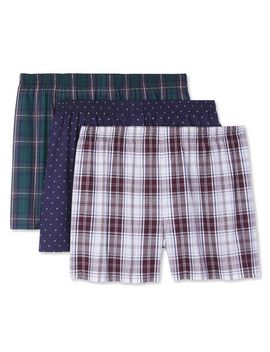 George Men's Woven Boxers by George