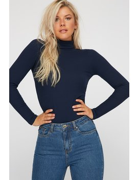 Urban Planet Women's Ribbed Turtleneck Long Sleeve by Urban Planet