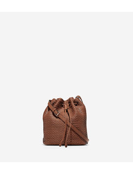 Bethany Woven Drawstring Bucket by Cole Haan